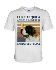 Tequila and Saint Bernard V-Neck T-Shirt thumbnail