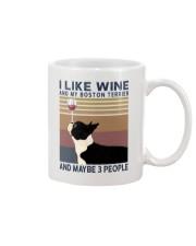 Wine and Boston Terrier Mug thumbnail