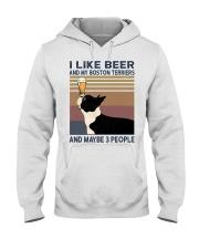 I like beer and my Boston Terriers Hooded Sweatshirt thumbnail