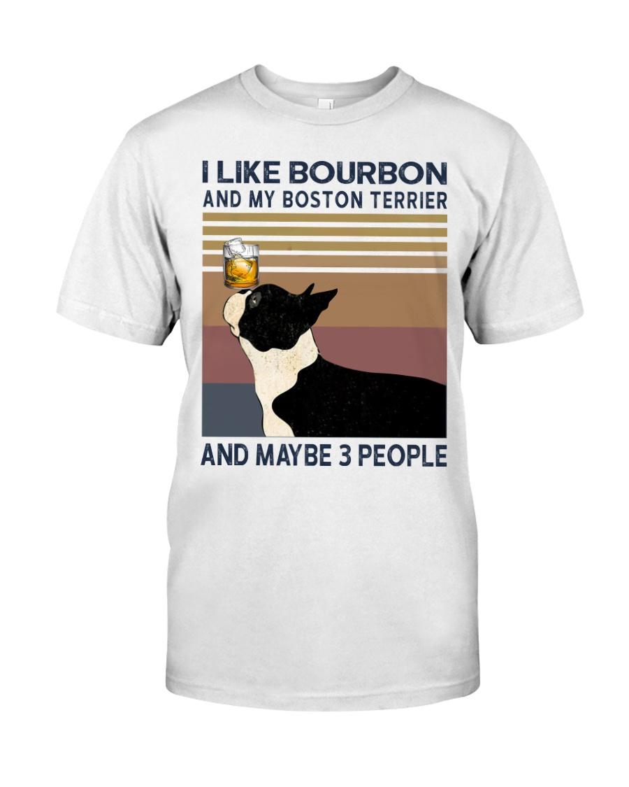 Bourbon and Boston Terrier Classic T-Shirt