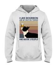 Bourbon and Boston Terrier Hooded Sweatshirt thumbnail