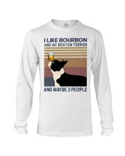 Bourbon and Boston Terrier Long Sleeve Tee thumbnail