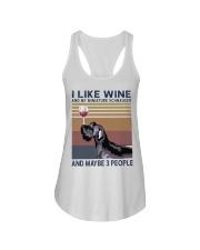 Wine and Miniature Schnauzer Ladies Flowy Tank thumbnail