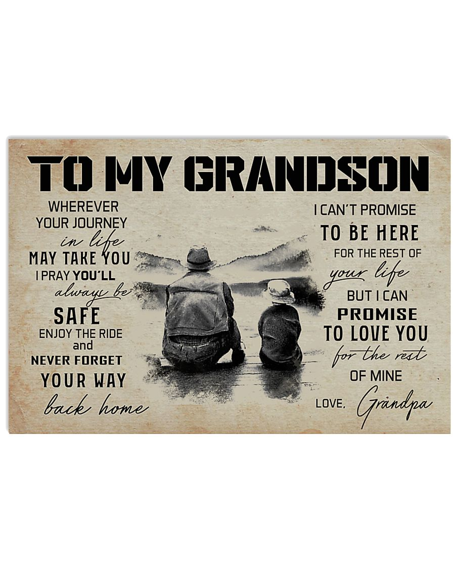 999 FISHING-TO MY GRANDSON 17x11 Poster
