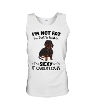 I m not fat sexy Dachshund Unisex Tank tile