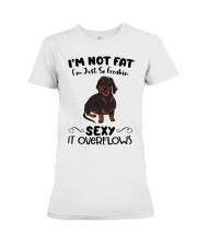 I m not fat sexy Dachshund Premium Fit Ladies Tee thumbnail