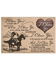 1 HORSES I CHOOSE YOU 17x11 Poster front