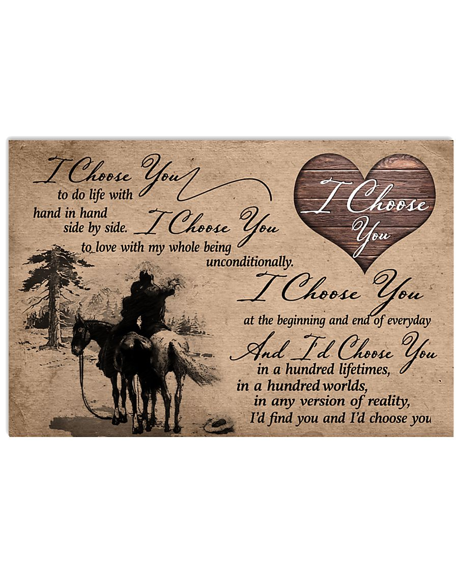01 I CHOOSE YOU - HORSE 17x11 Poster
