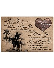 01 I CHOOSE YOU - HORSE 17x11 Poster front