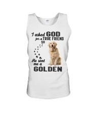 Golden Retriever  Asked God Unisex Tank thumbnail