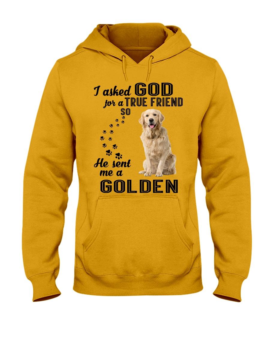 Golden Retriever  Asked God Hooded Sweatshirt