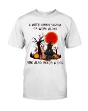 Witch Wine German Shepherd Classic T-Shirt front