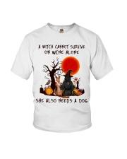Witch Wine German Shepherd Youth T-Shirt thumbnail