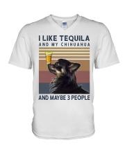 Tequila and Chihuahua kp V-Neck T-Shirt thumbnail