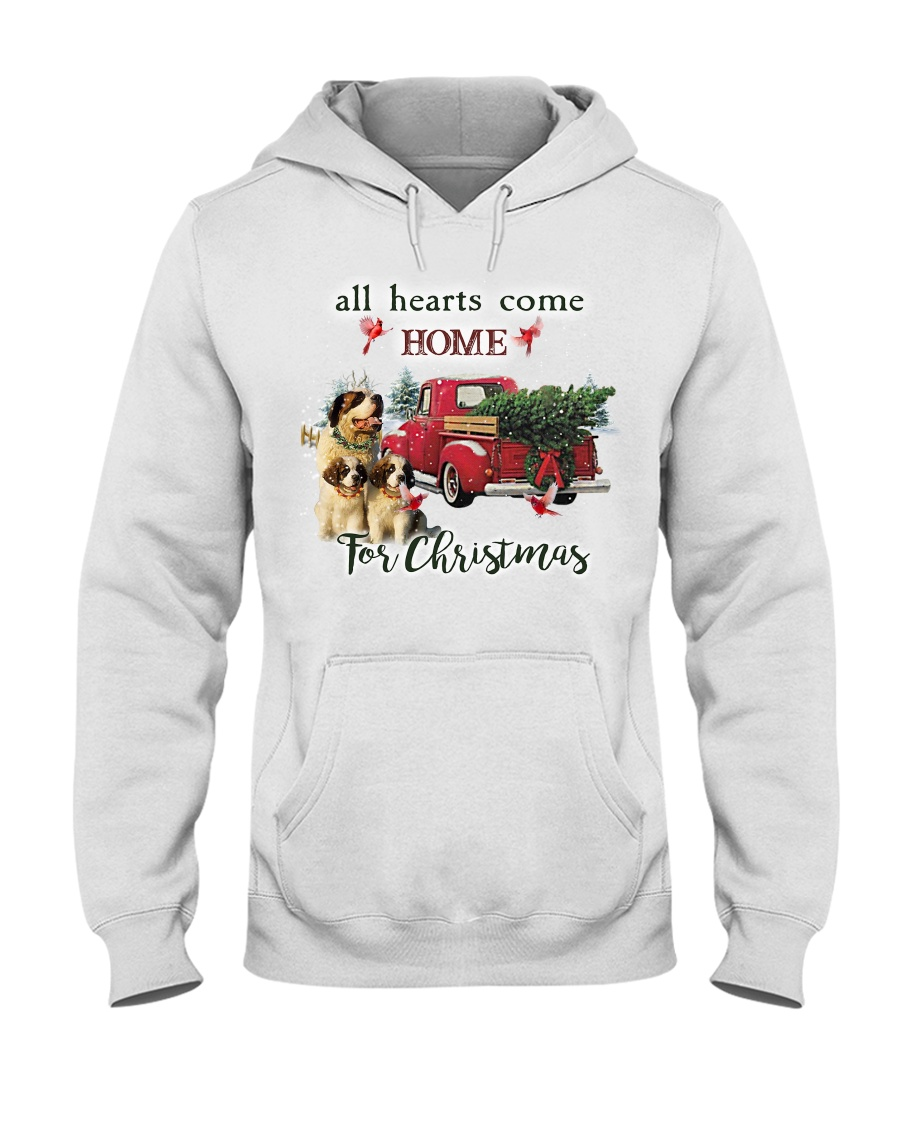 St Bernard Christmas Hooded Sweatshirt