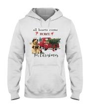 St Bernard Christmas Hooded Sweatshirt front
