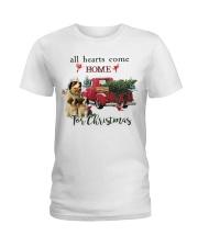 St Bernard Christmas Ladies T-Shirt thumbnail