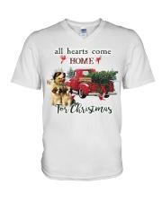 St Bernard Christmas V-Neck T-Shirt thumbnail