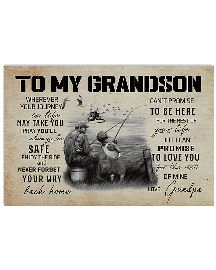 99 FISHING - TO MY GRANDSON 17x11 Poster