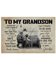 99 FISHING - TO MY GRANDSON 17x11 Poster front