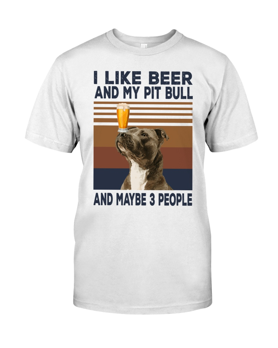 Beer and Pitbulls Classic T-Shirt