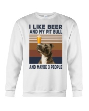 Beer and Pitbulls Crewneck Sweatshirt thumbnail