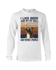 Beer and Pitbulls Long Sleeve Tee thumbnail
