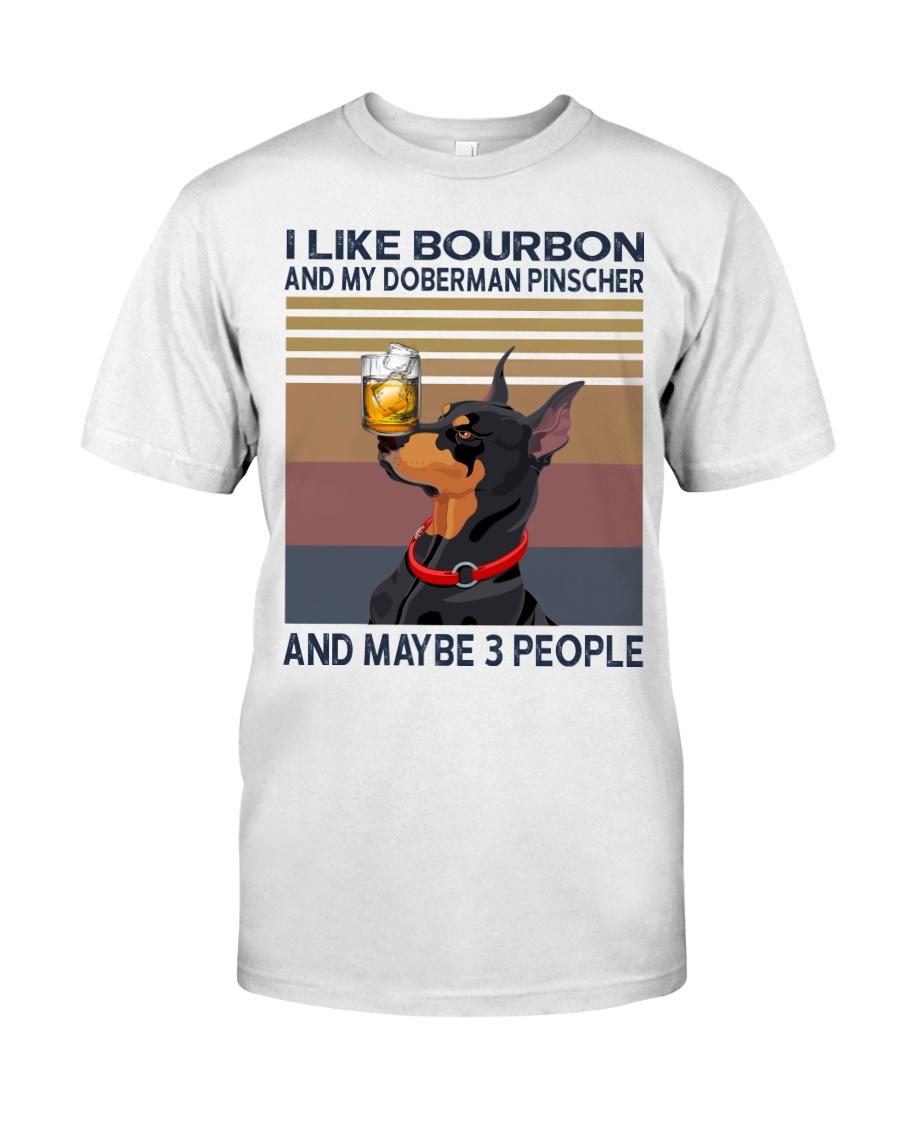 Bourbon and Doberman Pinscher Classic T-Shirt