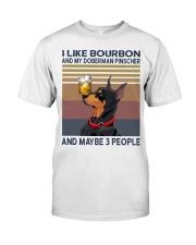 Bourbon and Doberman Pinscher Classic T-Shirt front