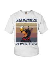 Bourbon and Doberman Pinscher Youth T-Shirt thumbnail