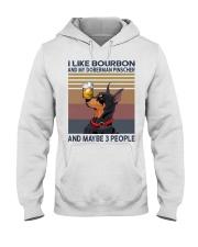 Bourbon and Doberman Pinscher Hooded Sweatshirt thumbnail