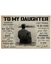 TO MY DAUGHTER WHEREVER YOUR JOURNEY - FISHING  17x11 Poster front