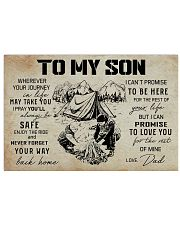 23 CAMPING-TO MY SON 17x11 Poster front