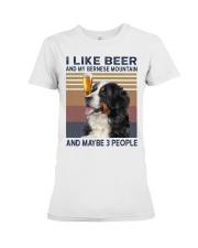 Beer and bernese mountain Premium Fit Ladies Tee thumbnail