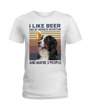 Beer and bernese mountain Ladies T-Shirt thumbnail