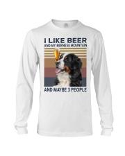 Beer and bernese mountain Long Sleeve Tee thumbnail