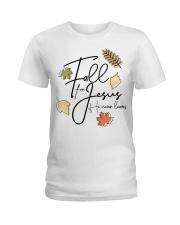 fall for jesus Ladies T-Shirt tile