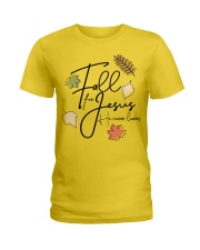 fall for jesus Ladies T-Shirt front