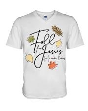 fall for jesus V-Neck T-Shirt thumbnail
