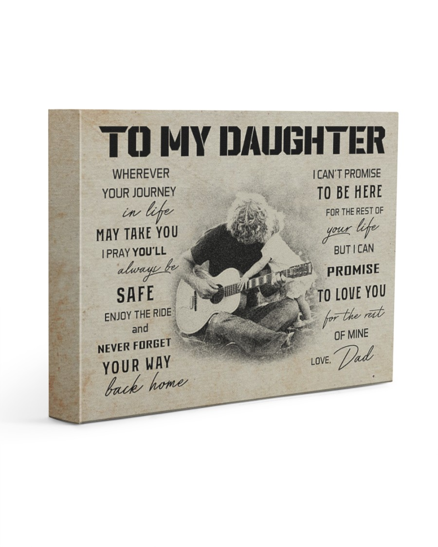 3 GUITAR  TO MY DAUGHTER 14x11 Gallery Wrapped Canvas Prints
