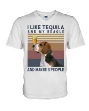 Tequila and Beagle kp V-Neck T-Shirt thumbnail