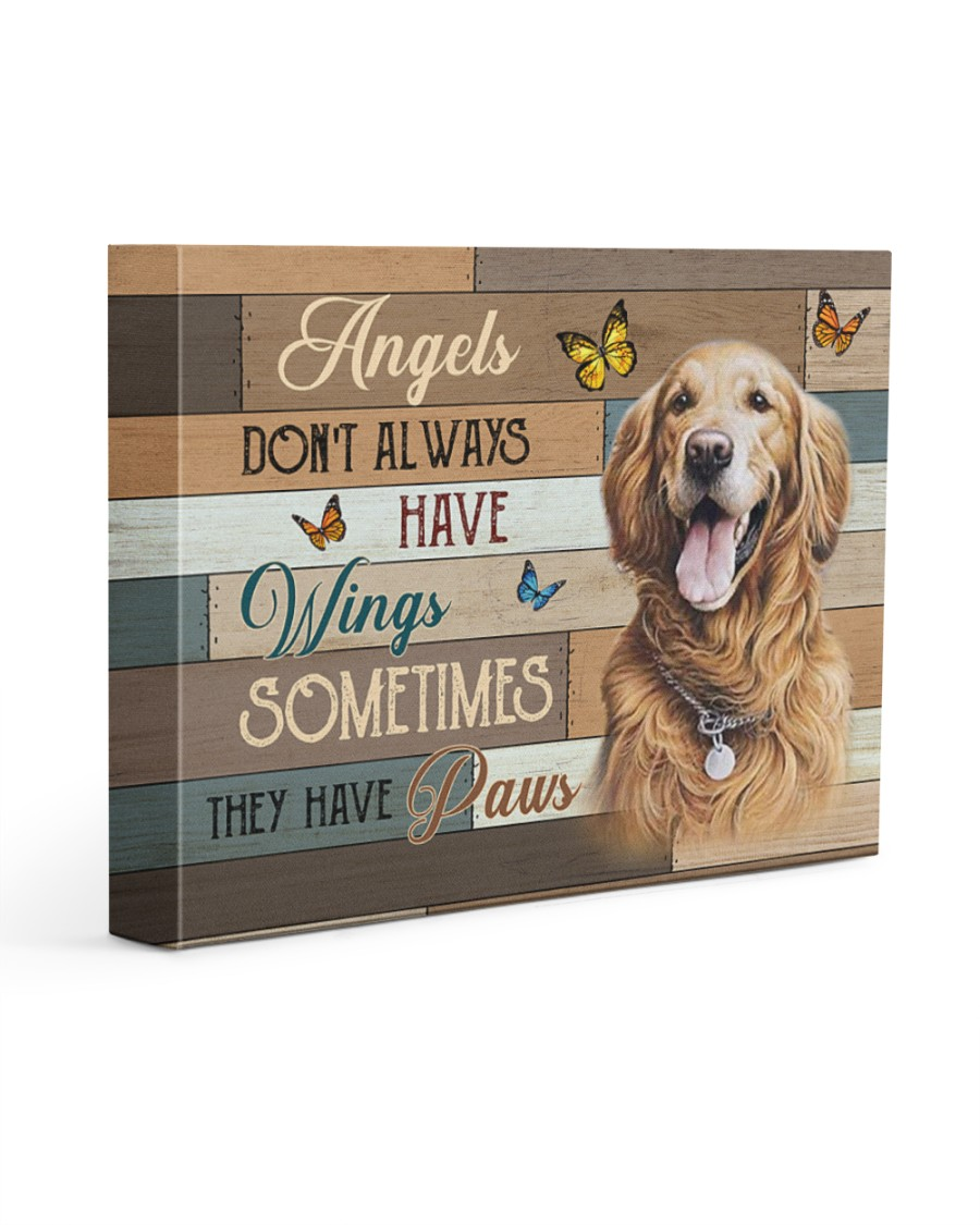 Angels Golden Retriever 14x11 Gallery Wrapped Canvas Prints