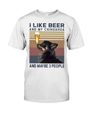 Beer and Chihuahua hp Classic T-Shirt front
