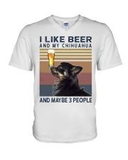 Beer and Chihuahua hp V-Neck T-Shirt thumbnail