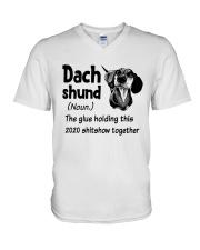 Dachshund 2020 V-Neck T-Shirt thumbnail