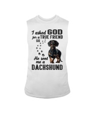Dachshund Asked God Sleeveless Tee thumbnail