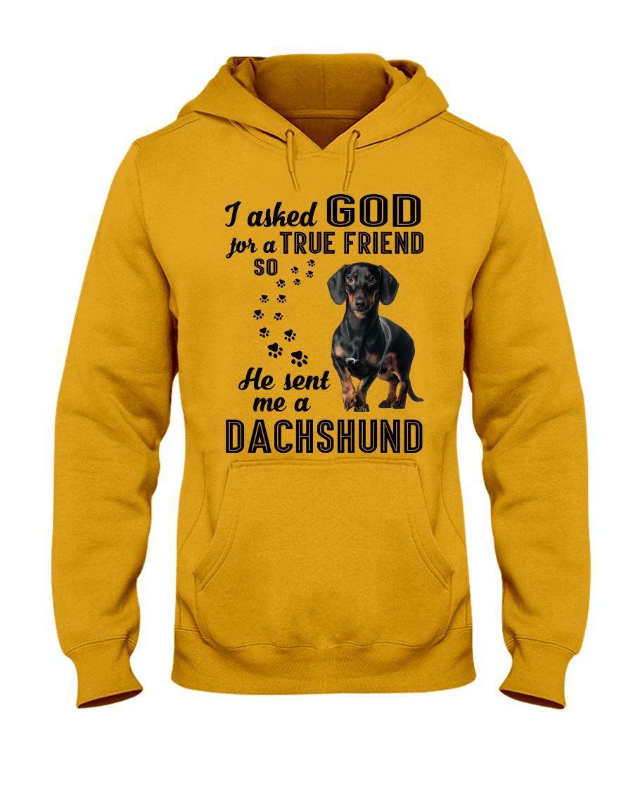 Dachshund Asked God Hooded Sweatshirt