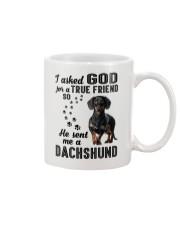 Dachshund Asked God Mug thumbnail