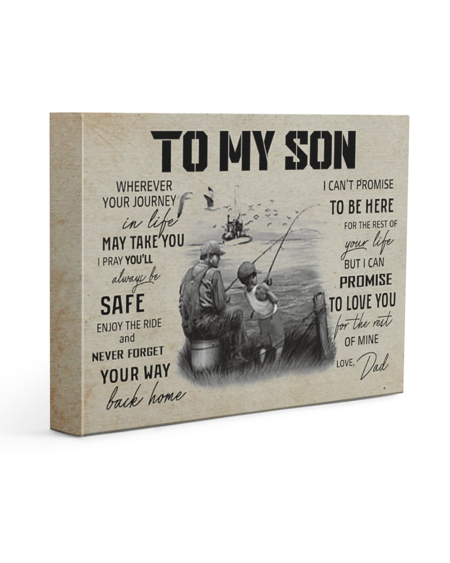 FISHING - TO MY SON CV 14x11 Gallery Wrapped Canvas Prints