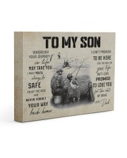 FISHING - TO MY SON CV 14x11 Gallery Wrapped Canvas Prints front
